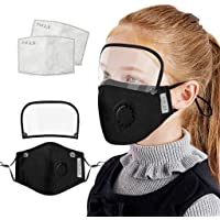 1 Pc Kids Children Face Shield Washable Reusable Boys Girls Adjustable Face Protection with 2 Replaceable Filter with…