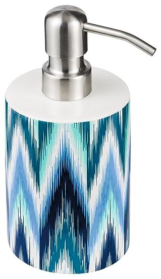 blue M/öve Ikat Zahnb/ürstenhalter /Ø7,5x10,5cm