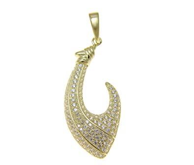 Yellow Gold-plated 925 Silver 16mm Aloha Pendant Necklace