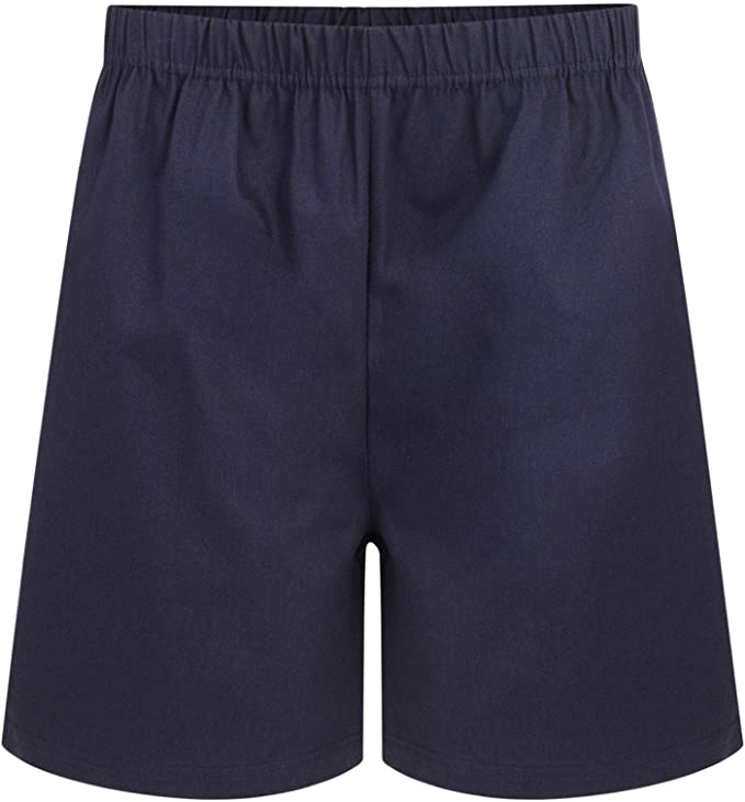 BOYS 2 PACK PE SHORTS 5-16 YEARS COTTON RUGBY SCHOOL FOOTBALL GYM BRAND NEW