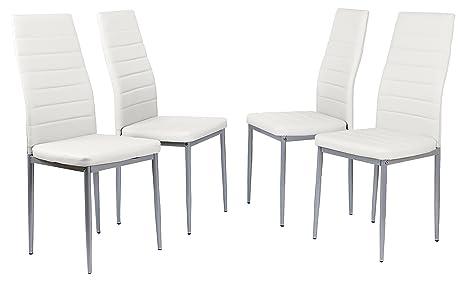 sillas comedor tapizadas blanco