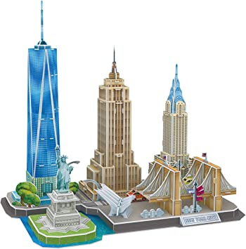 CubicFun Puzzle 3D New York CityLine Maquetas para Montar Paisaje Urbano, 123 Piezas: Amazon.es: Juguetes y juegos