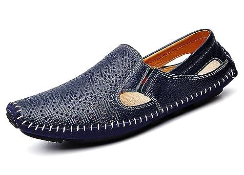 Mocasines Zapatos de conducción Casuales de Cuero Loafers Slip On Casual Planos Hombre: Amazon.es: Zapatos y complementos