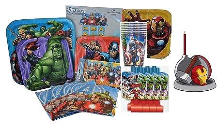Marvel Vengadores fiesta de cumpleaños suministros. Marvel ...