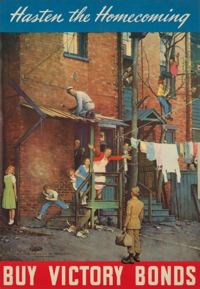 購入勝利Bondsヴィンテージポスター(アーティスト: Rockwell ) USA C。1945 12 x 18 Art Print LANT-72810-12x18 B01CXXL51Y  12 x 18 Art Print