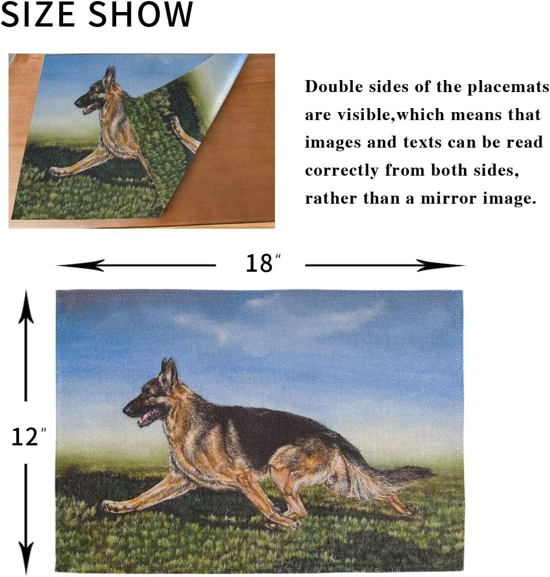 Tovaglietta americana Mousemat 8x10-Cane da pastore tedesco alsaziano Inverno #15520