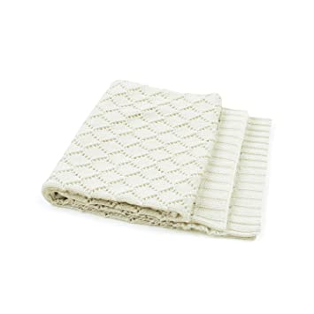 White,100cm/×80cm mimixiong Baby Cellular Blanket Boy and Girls