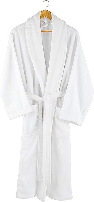 Charisma Home - Albornoz - para hombre/mujeres -100% algodón -bata- 380 g/m²- blanco S/M: Amazon.es: Hogar