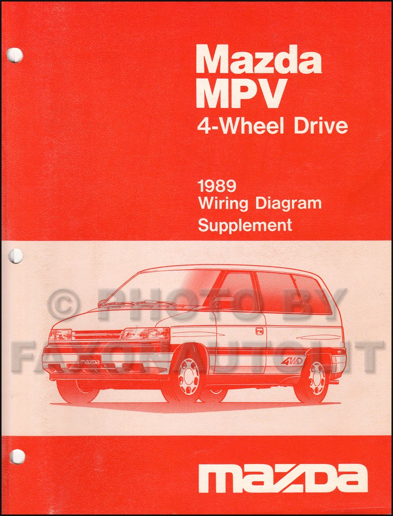 1989 Mazda MPV 4WD Wiring Diagram Manual Supplement Original: Mazda:  Amazon.com: Books