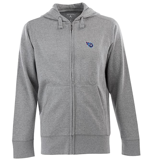 851a1dd00ef NFL Men's Tennessee Titans Full Zip Signature Hooded Sweatshirt  (Greyheather, Large)