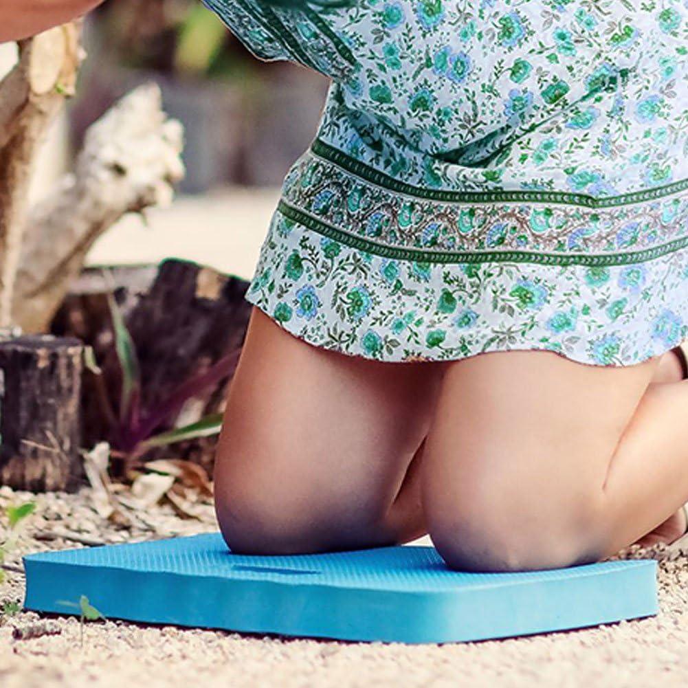 Yunhigh coj/ín de Kneeling de jardiner/ía con Mango Impermeable Espuma Gruesa Estera de Rodillas para Jardinero ba/ñera ba/ño beb/é Gimnasio Trabajo de construcci/ón Yoga Ejercicio Azul