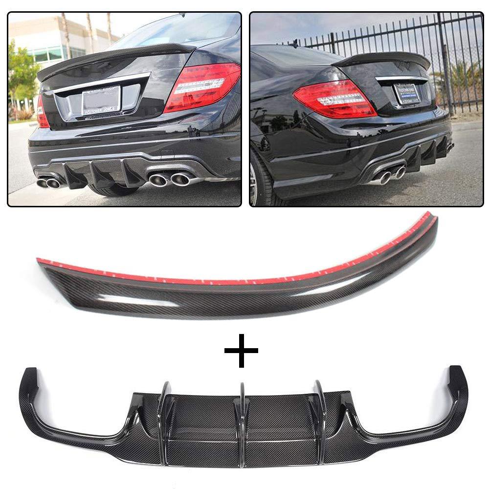 Carbon Fiber Rear Trunk Spoiler Wing For Mercedes W204 C250 C300 C63AMG Sedan