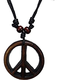 Amazon stainless steel large peace sign necklace 1 58 inch peace sign necklace peace symbol necklace hippie necklace resin peace sign pendant audiocablefo