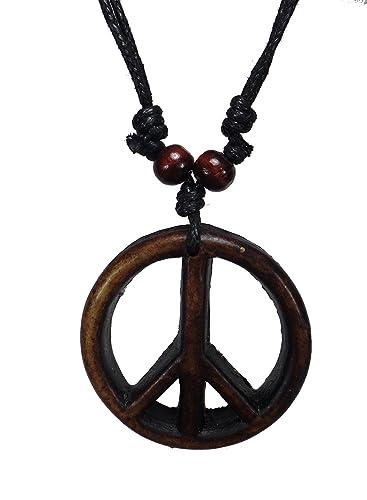 Peace sign necklace peace symbol necklace hippie necklace peace sign necklace peace symbol necklace hippie necklace resin peace sign pendant mozeypictures Choice Image