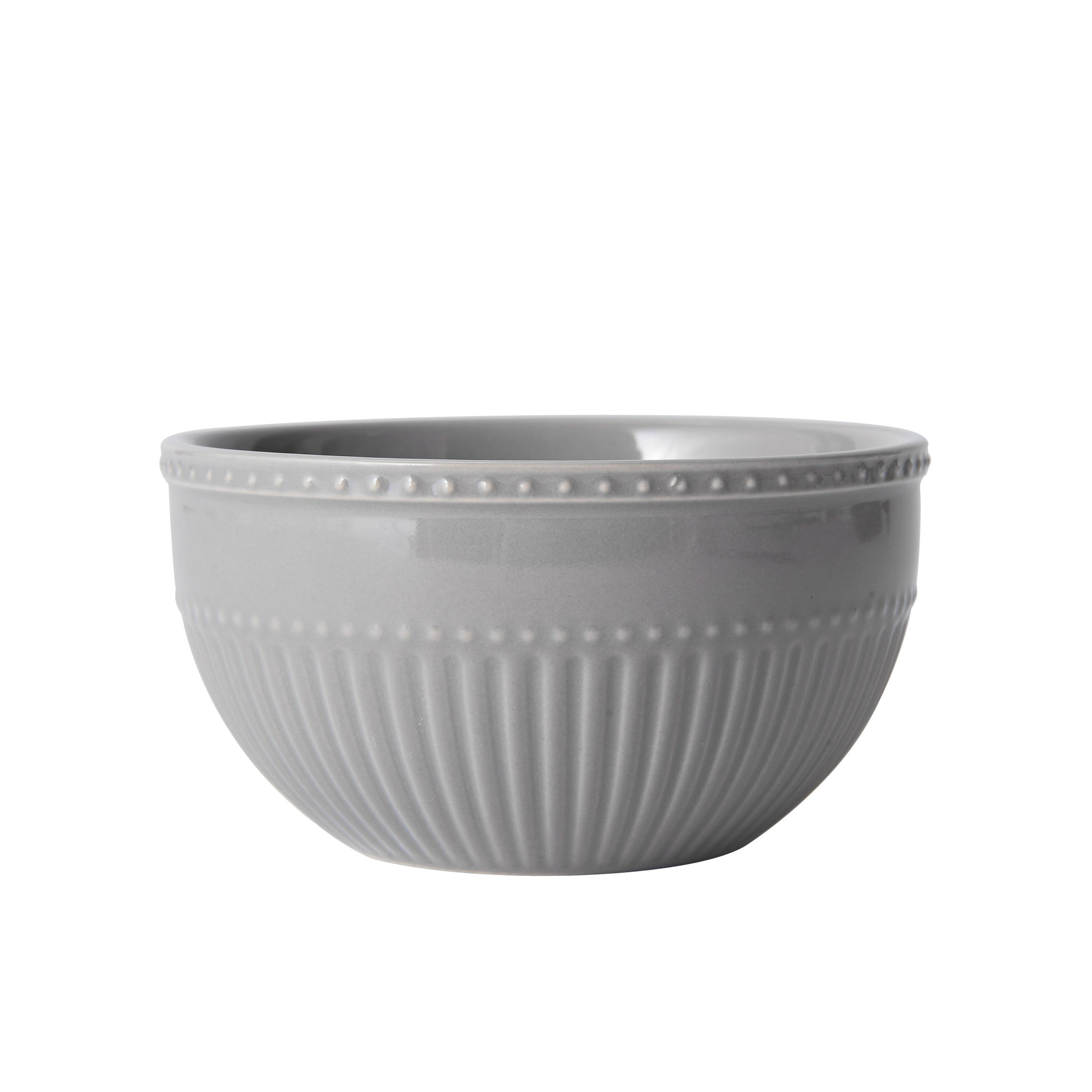 Mikasa Italian Countryside Accents Fruit Bowl, Fluted Grey