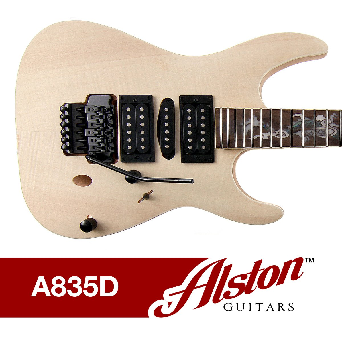 Alston Guitars Diy Electric Guitar Kit Bolt On Encore Wiring Diagram Solid Mahogany Body Neck Flamed Maple Veneer Musical Instruments