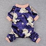 Fitwarm Fairy Unicorn Dog Pajamas Pet Clothes