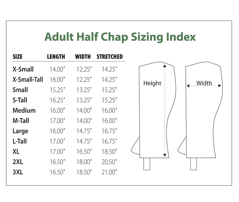 Perri's Zipper Adult Half Chap Perri's PERRI599