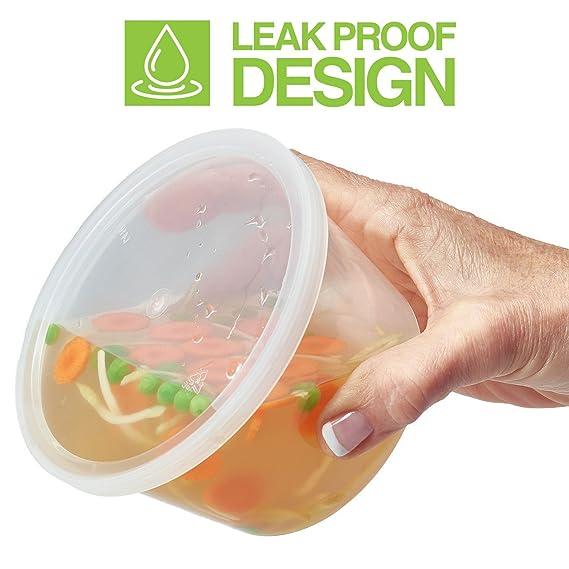 SWZY Deli Containers with Lids, 500ML 20 Pack Plastic Recipiente de almacenamiento de alimentos transparente a prueba de fugas para microondas: Amazon.es: ...