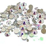 Swarovski 2058/2088 Crystal Nail Art Mixed Flatbacks Rhinestones, Crystal AB (001 AB)