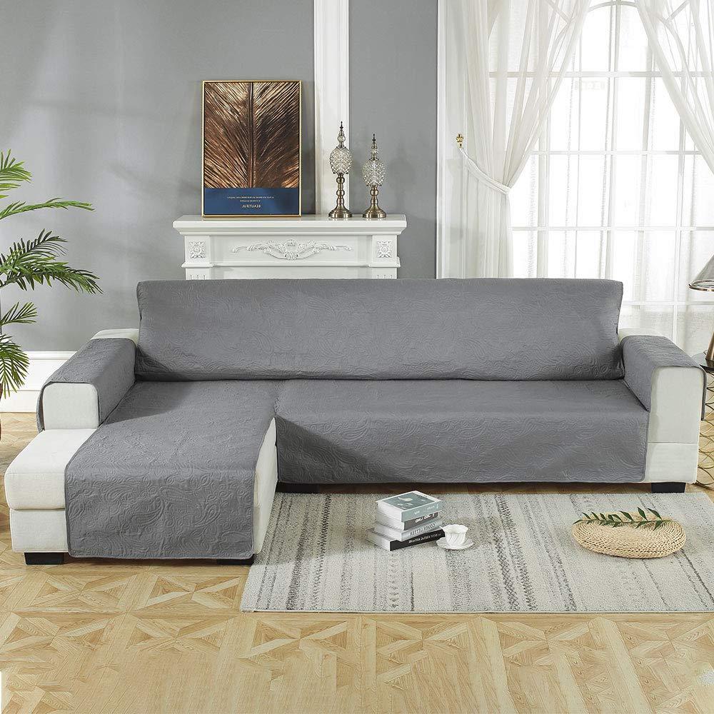 Impermeable Apta para Perros y Gatos Enjoygoeu con Forma de L 240 x 270 cm Funda para sof/á con Chaise Longue