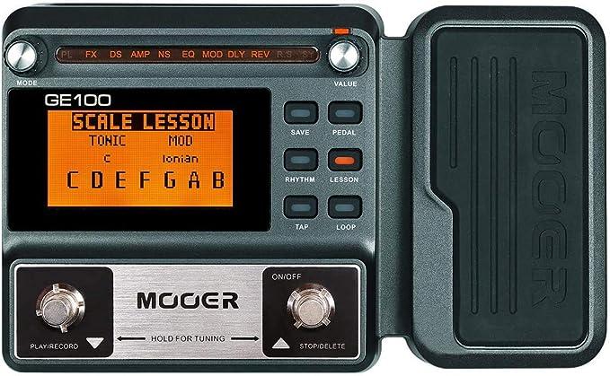 Amazon Com Mooer Ge100 Pedal Multiefectos Para Guitarra Con 2 Cables De Efecto Getaria Musical Instruments