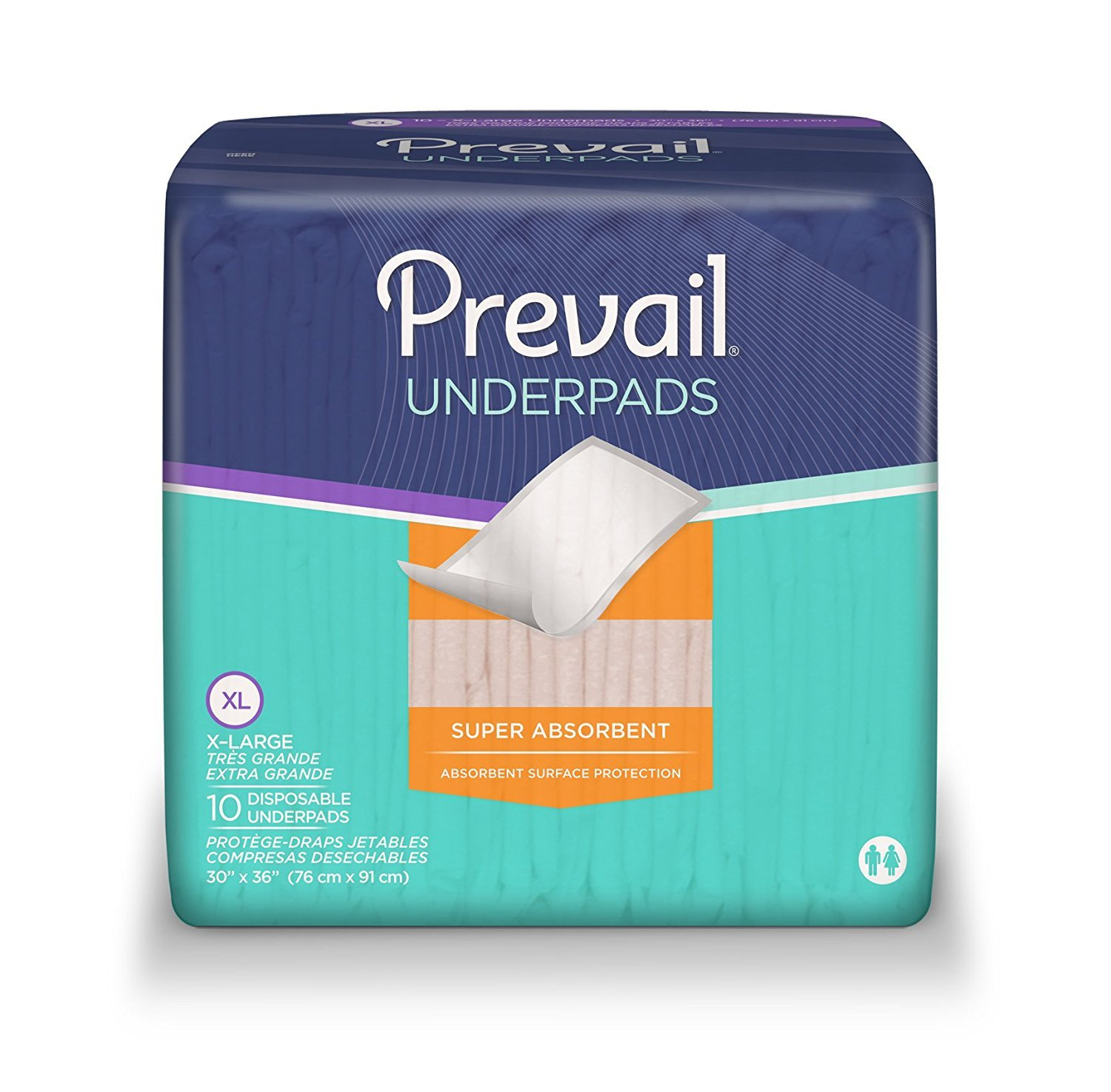 Prevail Cloth-Like Underpads Peach 30 x 36 (Case)