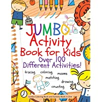 Jumbo Activity Book for Kids: Jumbo Coloring Book and Activity Book in One: Giant Coloring Book and Activity Book for…