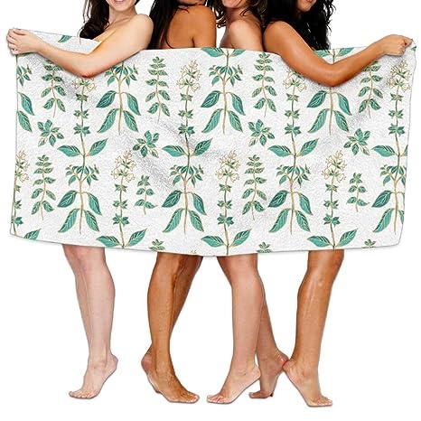 Toallas de baño, diseño de flores muy suave ultra absorbente toalla de baño para hombres