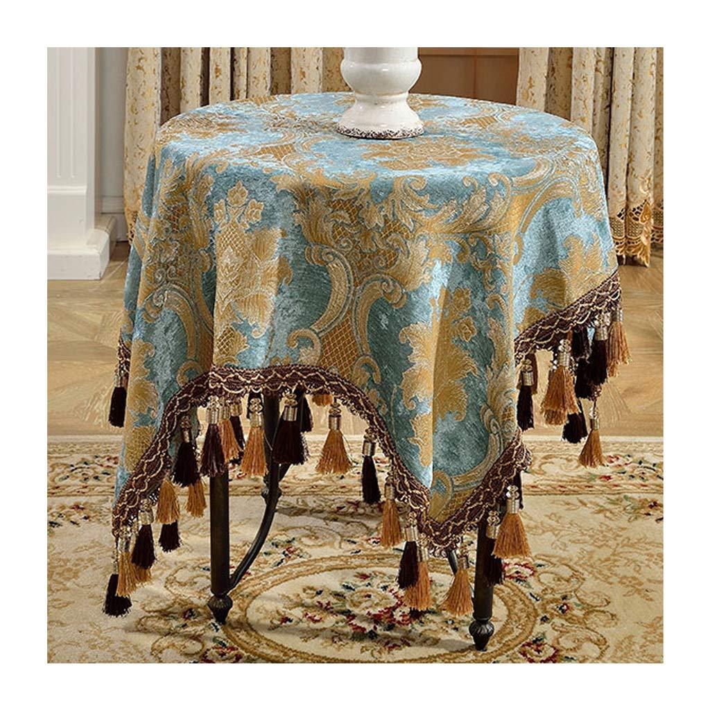 高貴なテーブルクロスファッションタッセルラウンドテーブルテーブルカバーティーテーブルクロス (色 : 緑, サイズ さいず : 200cm) 200cm 緑 B07S9R4NW7