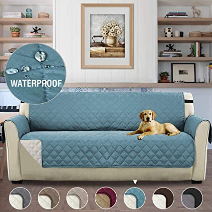 Excellent Reversible Quilted Furniture Protector Slipcovers Sofa Covers For 3 Seater Couch 2 Inch Straps Seat Width Up To 66 Slip Cover Throw For Pets And Lamtechconsult Wood Chair Design Ideas Lamtechconsultcom