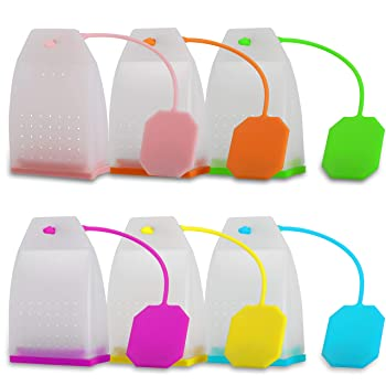 Ecurfu Reusable Silicone Tea Bag Tea Infuser
