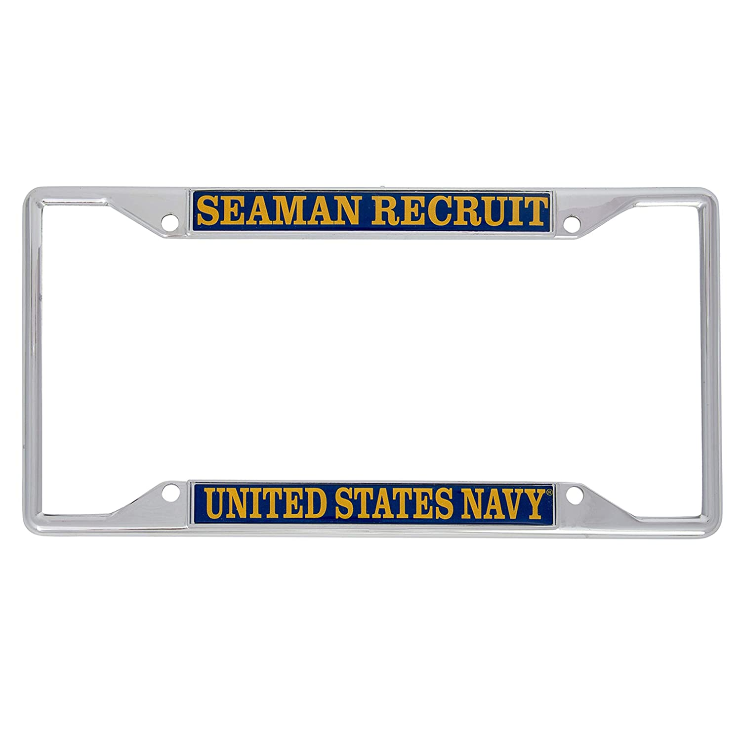 Desert Cactus US Navy Seaman Recruit Enlisted Grades License Plate Frame for Front Back of Car Officially Licensed United States