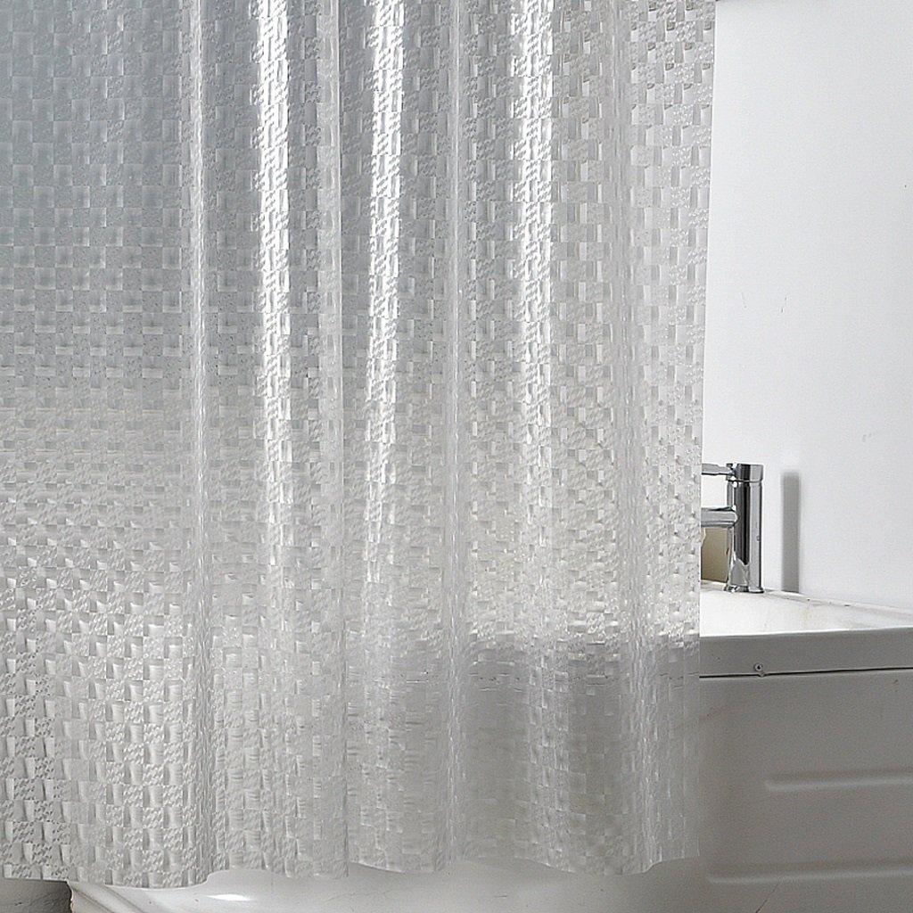 Curtain Bathroom Shower Curtain, 3D Glass Pattern Translucent Shower Curtain, Mildew Waterproof Shower Curtain, Thickening Shower Curtain Shower Equipment (Size : 150180cm)