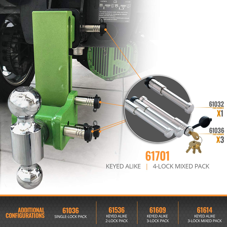 InfiniteRule Security Fits: B/&W Trailer Hitches | Curt Mfg. Inc Hitch Locks Keyed Alike 2 Pack 61536