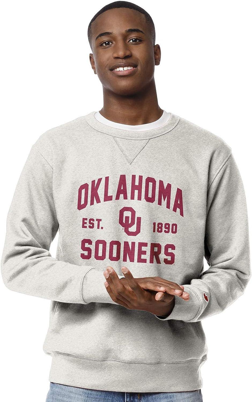 NCAA League Mens Oklahoma Sooners Stadium Crew Oatmeal Large