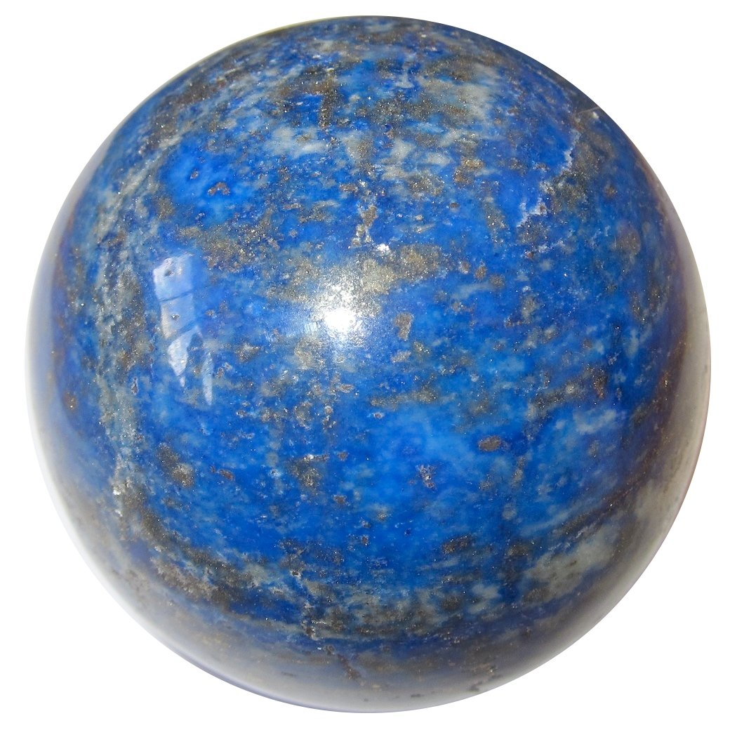 Satin Crystals Lapis Ball Collectible Royal Blue Afghan Sphere Highest Quality Lazuli & Gold Pyrite Stone, Exact One C05 (2.9''- Atlantis)