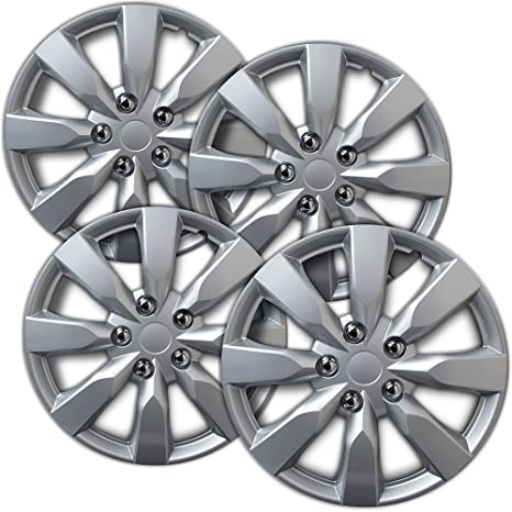 16 inch Hubcaps Best for 2014-2016 Toyota Corolla - (Set of 4) Wheel Covers 16in Hub Caps Silver Rim Cover - Car Accessories for 16 inch Wheels - Snap On ...