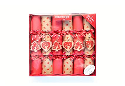 6 x 12 english christmas crackers from robin reed luxury table crackers with wooden