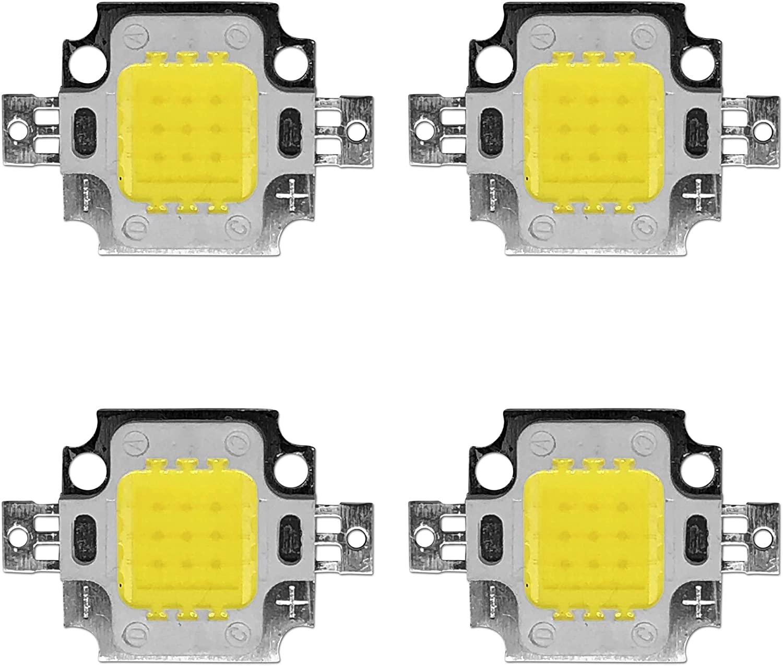 4x 10W High Power LED Chip Luz Blanca Fría