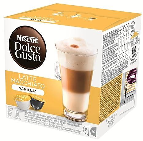 Nescafe Dolce Gusto cápsulas, vainilla Latte Macchiato, 16 ...