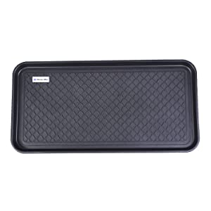 "Home-Man Multi-Purpose Boot Tray Mat,Pet Bowl Tray,Dog Bowl Mat,Boot Tray for Entryway,Waterproof Trays for Indoor and Outdoor Floor Protection,30"" x 15""/Large"