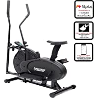 Fitkit FK300 Exercise Cycle and Cross Trainer/Dual Trainer 2 in 1 Home Fitness Gym Equipment with Free Installation