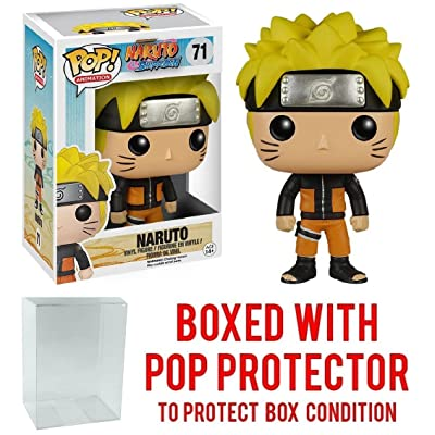 Funko Pop! Anime: Naruto Shippuden - Naruto #71 Vinyl Figure (Bundled with Pop BOX PROTECTOR CASE): Toys & Games