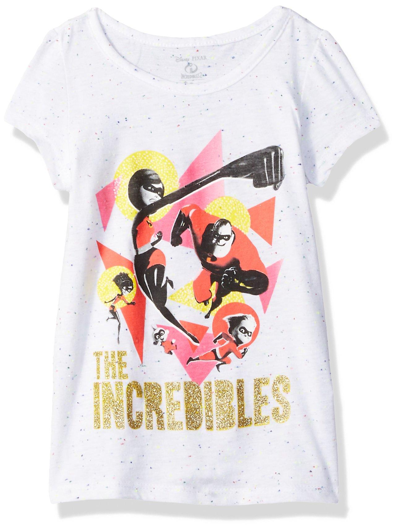 Disney Toddler Girls' The Incredibles 2 Family Group Short Sleeve T-Shirt, White, 2T