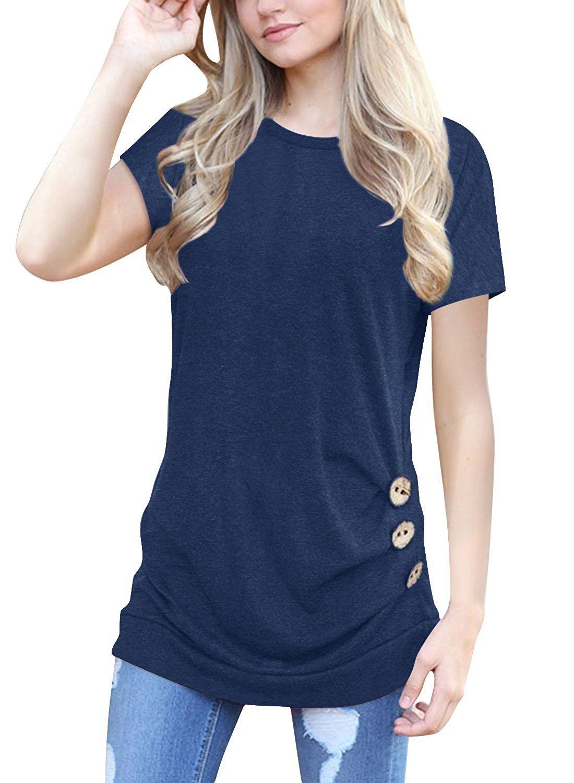 e4769d1e MOLERANI Women's Casual Short Sleeve Round Neck Loose Tunic T Shirt Blouse  Tops product image