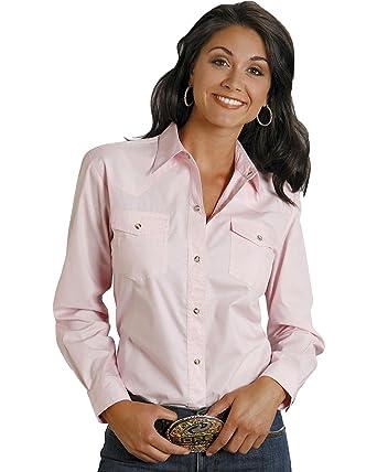 25a6847367508 Roper Women s Long Solid Poplin L S Shirt at Amazon Women s Clothing ...