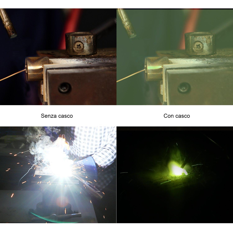 Tacklife, PAH03D - Casco de soldadura de arco TIG MIG, oscurecimiento automático, profesional, con batería, alimentado por energía solar, con pantalla de ...
