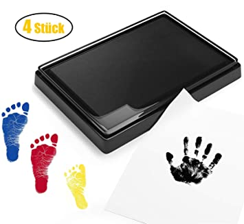 Häufig Endureal Baby Stempelkissen | Baby Fuß- oder Hand-Abdruckset Set VE91