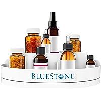 Bluestone Lazy Susan Pill Holder-360 Revolving Turntable Medication Storage Organizer Caddy-5 Compartments for Pills…